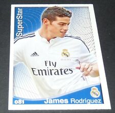 JAMES RODRIGUEZ REAL MADRID FOOTBALL SUPERSTAR LIGA 2014-2015 MDCROMO PANINI