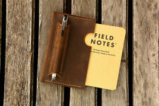 Leather notebook sleeve for field notes Minimalist field notes sleeve case