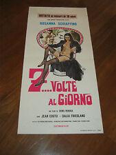 LOCANDINA,7  VOLTE AL GIORNO,SEVEN TIMES A DAY SCHIAFFINO,Denis Heroux SYMEONI