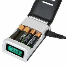 LCD Fast Intelligent Battery Charger for Rechargeble NiMH NiCd & Alkaline AA AAA