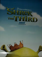 "MOVIE POSTER~Shrek The Third 2007 Double Sided D/S Original 27x40"" One Sheet~New"