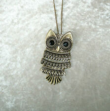 Owl Pendant Necklace or take off for a Pin Bronze Chain Avon New Inner Wisdom