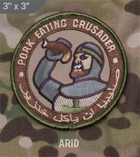 Mil-Spec Monkey PORK EATING CRUSADER Arid Color Patch New hook Back ARID