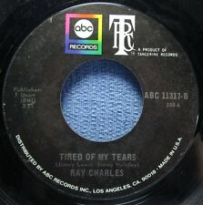 RAY CHARLES: Tired of My Tears/ What Am I Living For [45] - Ships WORLDWIDE!