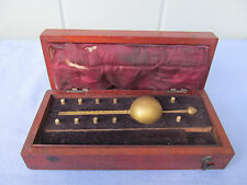 Antique/Vintage Sikes Hydrometer in wood case parts/repair