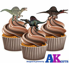 Dinosaur Spinosaurus Boys Birthday Party 12 CupCake Toppers Edible Decorations