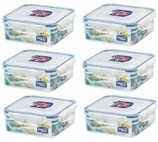 Lock and Lock, Water Tight, Food Container, 3.6-cup, 29-oz, Pack Of 6, Hpl823
