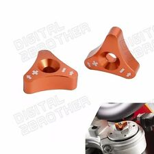 New Orange CNC KTM Front 48mm Fork Shock Absorber Adjusters Knob Bolts Billet
