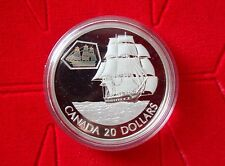 2001 Canadian Transportation Series $20 Silver Coin - The Marco Polo - No Tax
