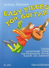 Gitarre Noten : Easy Pieces For Guitar leicht - leMi  (leichte 2-stimmige) klass