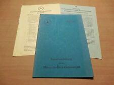 Original Betriebsanleitung Mercedes Benz Gas-Erzeuger Generator G305 Ausg. 1942