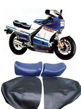 SUZUKI RG500 GAMMA RG 400 RG 500 BLUE MOTORCYCLE SEAT COVER- new superb quality