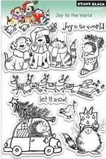 New Penny Black RUBBER STAMP clear  JOY TO THE WORLD CHRISTMAS Free usa SHIP