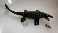 MOSASAURUS MARINE DINOSAUR + FOSSIL TOOTH MODEL EDUCATIONAL COLLECTA Brand New!