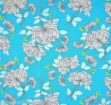 "BELLE Chrysanthemum ""Blue"" by Amy Butler* 100% cotton quilting fabric"
