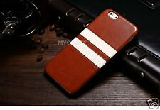 "Case IP6BA-009 For Apple iPhone  6 4.7"" TPu Leather stripe Case Back Cover Brown"
