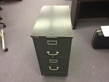 """2 Drawer rolling filing cabinet 14 1/2""""W x 25 1/2""""D ROLLING FILE CABINET, OLD"""