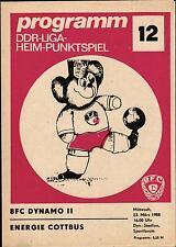 DDR-Liga 87/88 BFC Dynamo II - Energie Cottbus, 23.03.1988
