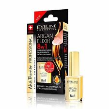 Professional Nail Conditioners EVELINE Nail Therapy Nail Argan Elixir 8 in 1