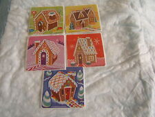 5 Gingerbread Houses  Scented   Stickers Party Favors