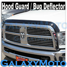 10-15 Dodge Ram Heavy Duty Smoke Black Hood Shield Grille Guard Bug Deflector