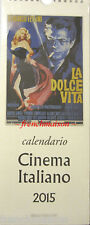 ITALIAN Movie 2015 (La Dolce Vita, Sophia Loren, etc) Poster Art Wall CALENDAR