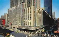 Radio City Music Hall New York City NY Street Scene Vintage Postcard ca 1950s