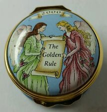 """2000 MARY KAY """"THE GOLDEN RULE"""" HALCYON DAYS ENAMEL BOX - """"DO UNTO OTHERS..."""""""