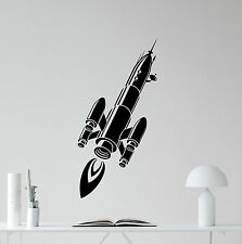 Spaceship Wall Decal Space Ship Rocket Nursery Vinyl Sticker Decor Mural 44hor