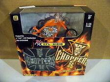 2004 1:18 Scale West Coast Choppers Jesse James R/C CFL-RIGID Orange