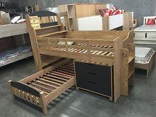 loft bunk  single bed oak charcoal NEW IN BOX
