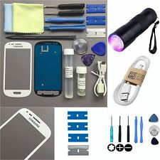 Samsung Galaxy S3 MINI I8190 Front Glass len Screen Replacement Repair Kit White