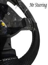 Accoppiamenti 79-90 MERCEDES W126 perforato in pelle Volante Copertura Cuciture Bianche