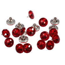 20pcs x 12mm Red Round Crystal Diamante Faceted Crystal Diamante Buttons