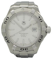 Mens Tag Heuer WAP2011 Aquaracer All Stainless Steel Swiss Date Automatic Watch