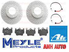 2-Anti Rust Front Cross Drilled Rotors /Pads/2-Wear Sensors Boxster S & Cayman S