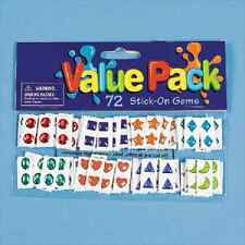 Stick-On Gems / 72 pc / PARTY FAVORS (14/4V)