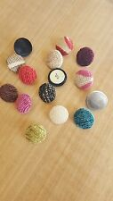 Upholstery button covering service using your own fabric. 2 for 99p  Buy 6 get 8