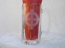 celtic cross xl beer mug thors hammer asatru viking norse