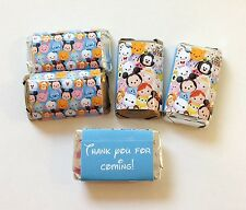 50 DISNEY TSUM TSUM PERSONALIZED MINI CANDY BAR WRAPPERS PARTY FAVORS
