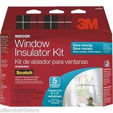 5 Window Indoor Insulation Kit Clear Insulator Film 3M Draft Prevention Tape