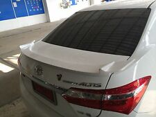REAR SPOILER DUCK TAIL FOR ALL NEW TOYOTA COROLLA ALTIS 2014