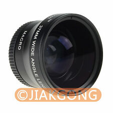 Black 37mm 0.45x WIDE Angle + Macro Conversion LENS 37 0.45