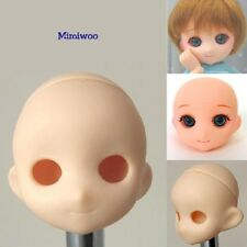 Parabox Obitsu OOAK 1/6 Bjd Dollfie Doll White Skin Muffin Head with Eye Hole