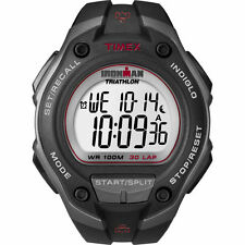 "Timex T5K417, Men's ""Ironman Triathlon"" Black Resin Watch, Alarm, T5K4179J"