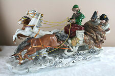 GERMAN PORCELAIN FIGURAL GROUP NAPOLEON Officer russian sleigh marked