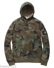 *NWT* STONE ISLAND x SUPREME FW14 PULLOVER HOODED SWEATSHIRT (CAMO, SMALL)
