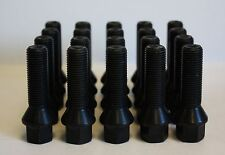 20 X M14 X 1.5 BLACK TAPERED 35MM WHEEL BOLTS FIT PORSCHE CAYENNE MACAN PANAMERA