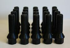 20 X M14 X 1.5 BLACK TAPERED 45MM ALLOY WHEEL BOLTS FIT AUDI S4 RS4 B5 B6 B7 B8