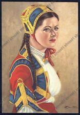 SARDEGNA - COSTUME COSTUMI 135 DESULO Cartolina viaggiata 1955 Pittore PERROTTI